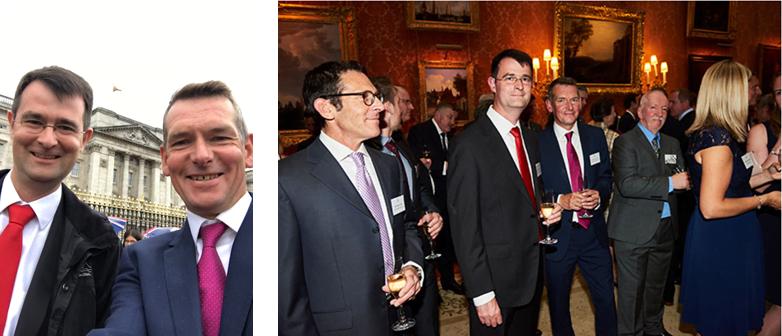 Third Dimension team at Buckingham Palace