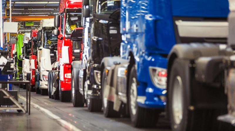Leading truck manufacturer production line