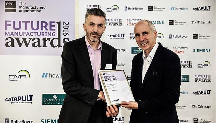 Tim Monks receiving regional EEF award